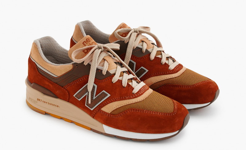 J Crew New Balance 997 Butterscotch