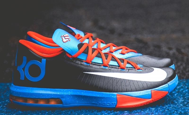 ShoeFax - Nike KD 6 Away Black   Orange - Blue b794256c8462