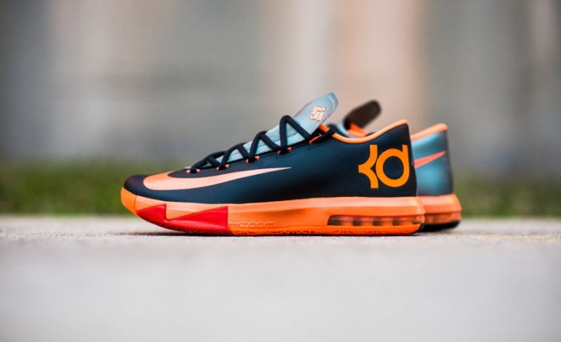 Nike KD 6 Anthracite / Total Orange