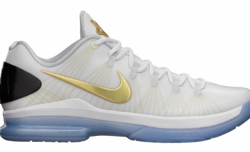 Nike KD 5 Elite - White / Metallic Gold