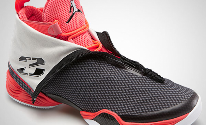 "Air Jordan 28 Black / Bright Crimson ""Carbon Fiber"""