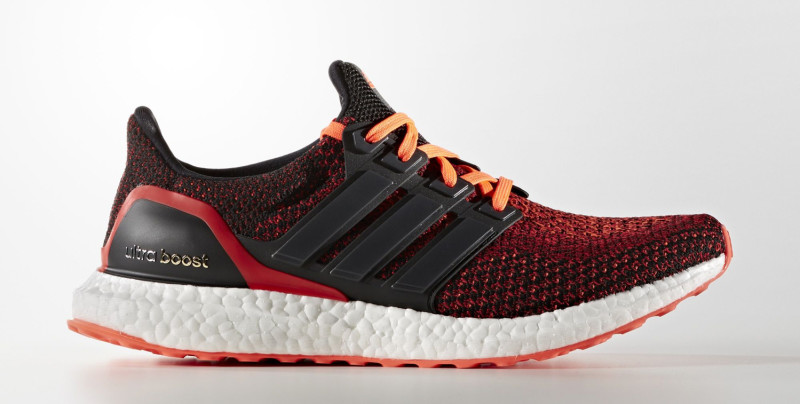 Adidas Ultra Boost Core Black Solar Red