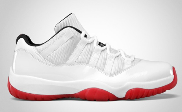 Air Jordan 11 Low White / Varsity Red - Black